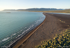 Coastline in northern Iceland. Aerial photo captured with a camera drone (Phantom).
