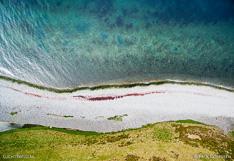 Coastline in Skagafjörður in northern Iceland. Aerial photo captured with a camera drone (Phantom).
