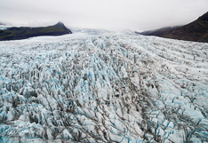 Glacier tongue Fjallsjökull. Aerial photo captured with a camera drone by Paul Oostveen.