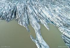 Glacier tongue Skaftafellsjökull in Iceland. Aerial photo captured with a camera drone (Phantom) by Paul Oostveen.