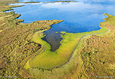 Lake Mývatn in Iceland. Aerial photo captured with a camera drone (Phantom) by Paul Oostveen.