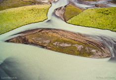 River Héraðsvötn in northern Iceland. Aerial photo captured with a camera drone (Phantom).