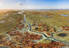Verdronken land van Saeftinghe in Zeeland. Luchtfoto gemaakt met een camera drone door Paul Oostveen.