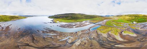 Westfjords Steingrímsfjörður fjord - 360 graden drone panorama captured by Paul Oostveen with camera drone