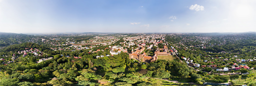 Chernivtsi city with university in Ukraine - 360 graden drone panorama captured by Paul Oostveen with camera drone