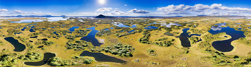 Hidden Lakes near Myvatn