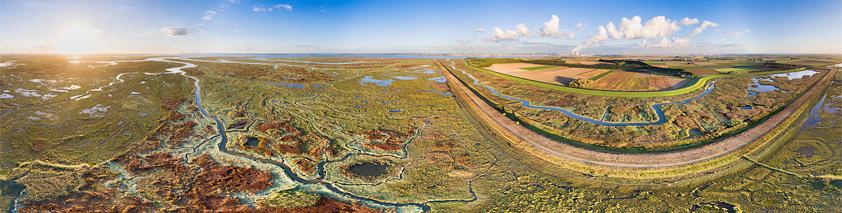 Panorama Verdronken Land van Saeftinghe