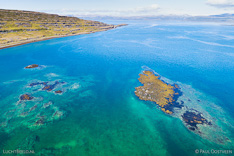 Coast along Mjoifjördur in the Westfjords of Iceland. Aerial photo captured by drone.
