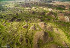 Vatnsdalshólar.  Aerial photo captured with a camera drone (Phantom) by Paul Oostveen.