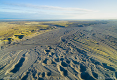 Skeiðarársandur in Iceland, close to Skeiðarárjökull. Aerial photo captured with a camera drone (Phantom) by Paul Oostveen.
