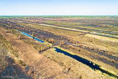 Deurnese Peel na de grote veenbrand van april 2020 - luchtfoto gemaakt met een drone.