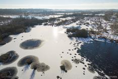 Haaksbergerveen in de winter met een drone